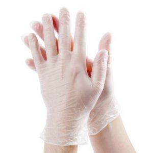 Vinyl handschoenen Wit poedervrij