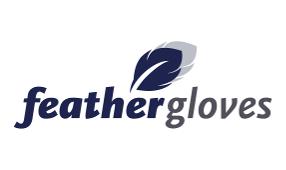 logo feather blauw