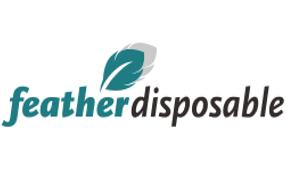 logo feather disposables
