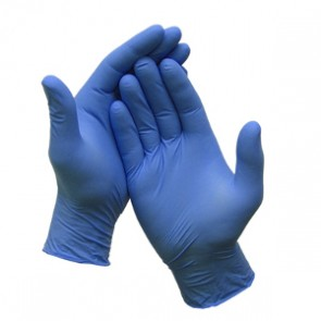 nitrile indigo poedervrij accelerator free handschoenen
